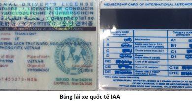 bằng lái quốc tế