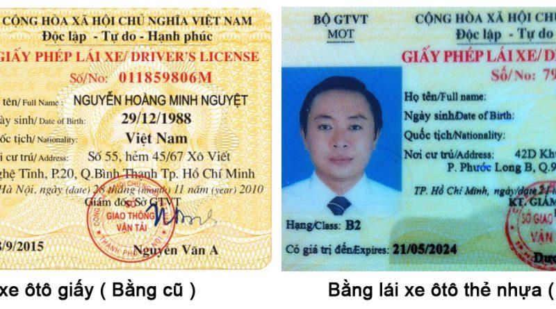 Thủ tục đổi bằng lái xe nước ngoài qua bằng Việt Nam