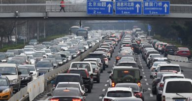 Cars crowd the Second Ring Road in Beijing as traffic gets back to normal amid the ongoing COVID-19 coronavirus outbreak on March 24, 2020. - China reported 78 new cases of the deadly coronavirus on March 24, with the vast majority brought in from overseas as fears rise of a second wave of infections. (Photo by GREG BAKER / AFP) (Photo by GREG BAKER/AFP via Getty Images)
